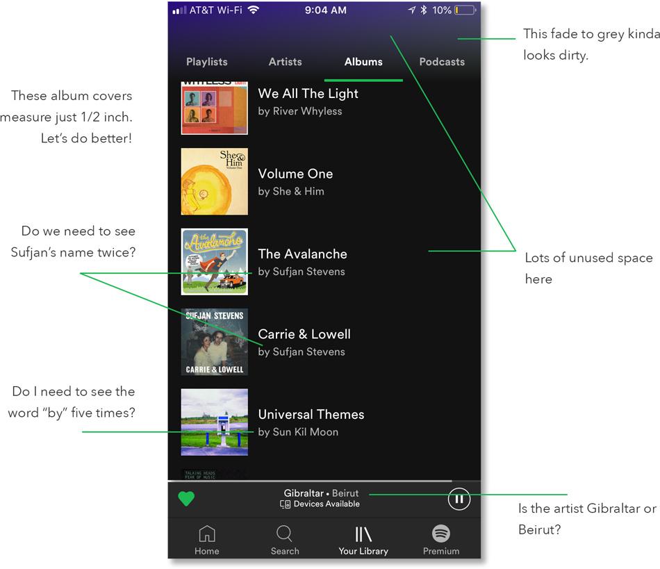 Spotify UI Problems
