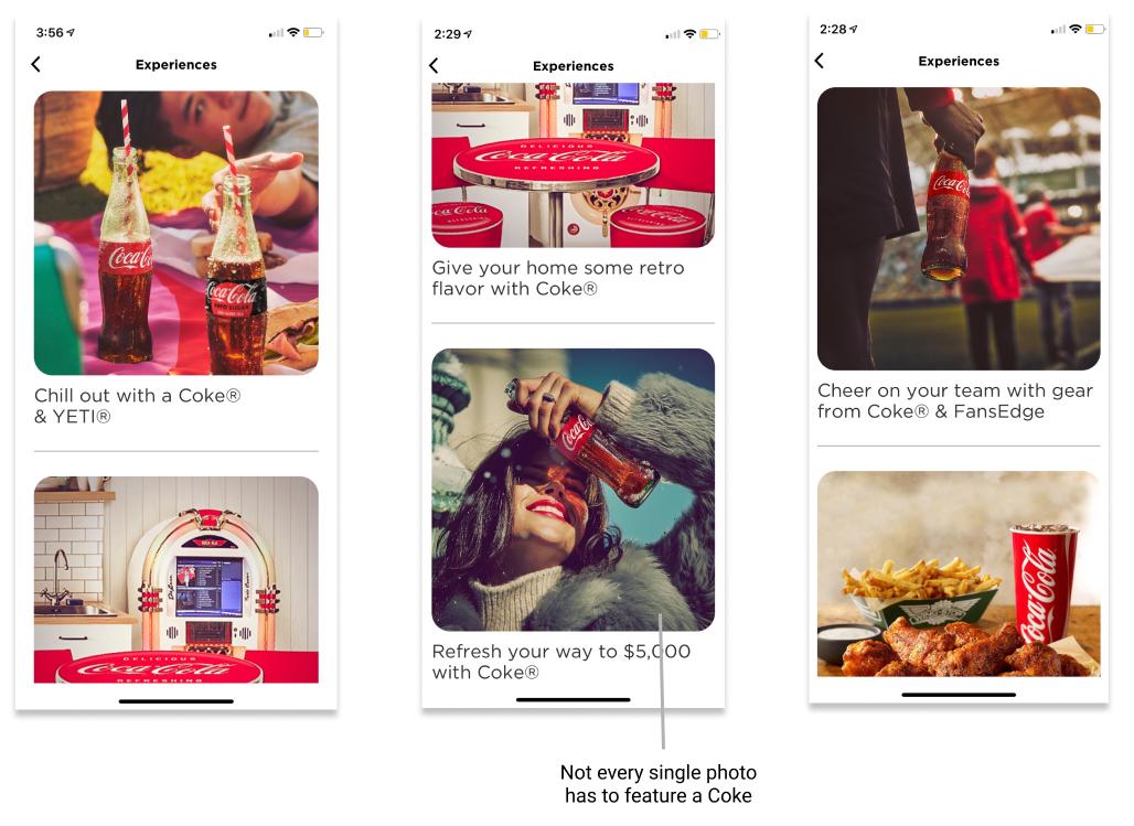 Coke Experience Screen
