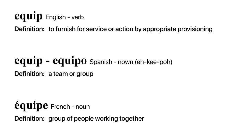 definition of Equip